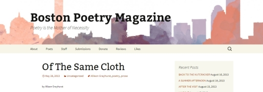 Boston poetry same cloth 4