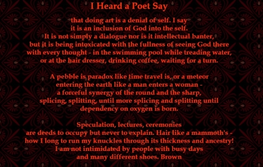 Whisper - I heard a poet say 1
