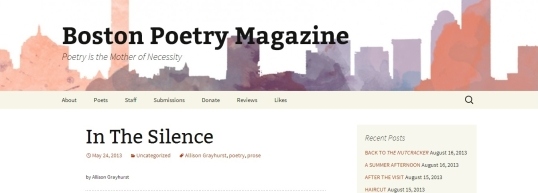 Boston poetry in the silence 4