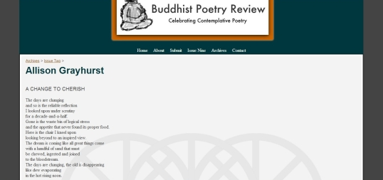 Buddhist Poetry Review change