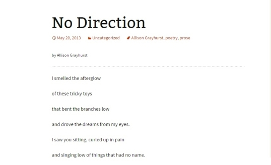 Boston poetry no direction