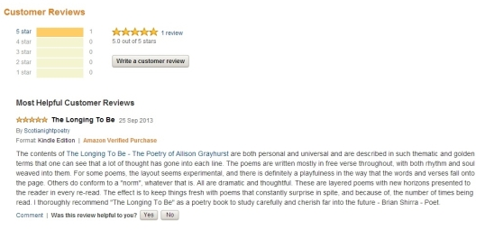Reviews - The Longing to Be