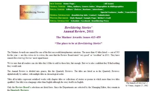 Bewilding Stories Award 1