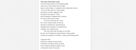 Poems About Life the Voice 1