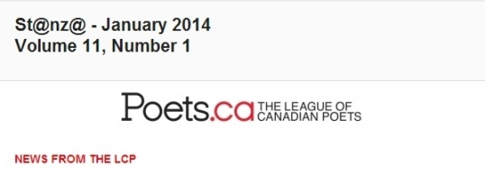 League of Canadian Poets newsletter