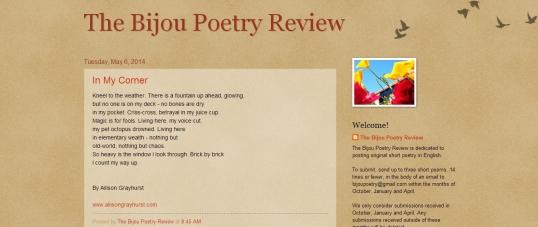 Bijou Poetry Review