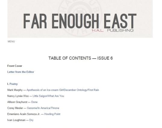 Far Enough East 2