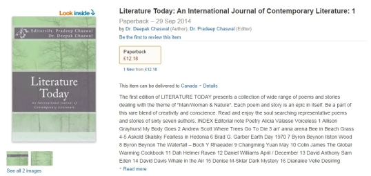 Literature Today amazon