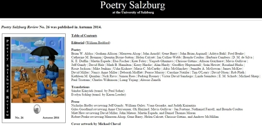 Poetry Salzburg Review 5