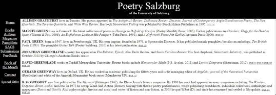 Poetry Salzburg Review 6
