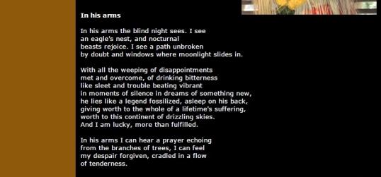 Kritya Dec 3 - In His Arms