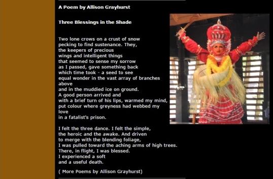 Kritya Dec 6 - Three Blessings in the Shade
