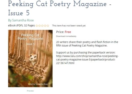 Peeking cat poetry 5