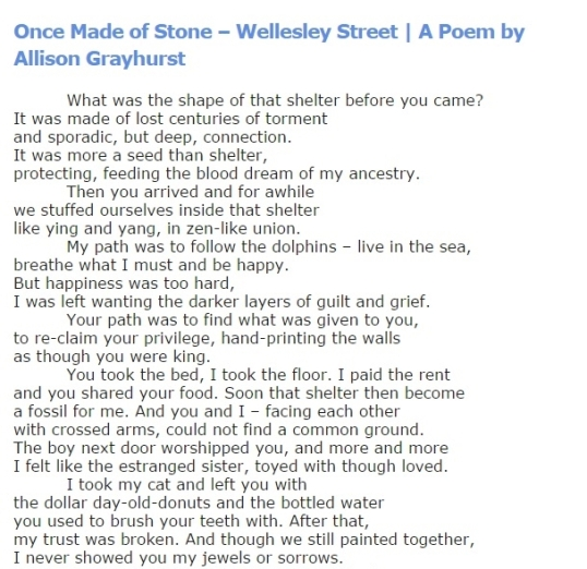 Poems and Poetry - Once Made of Stone 2