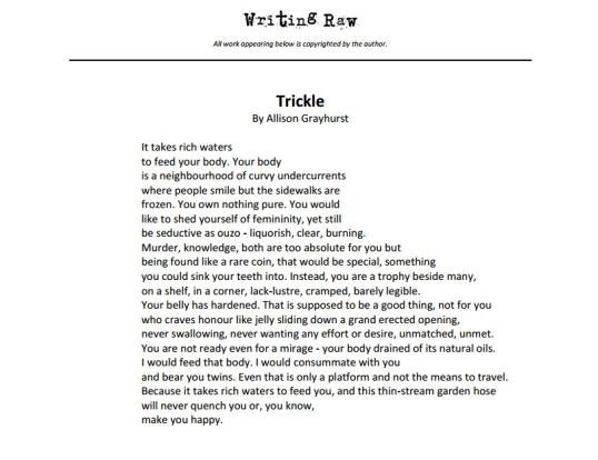 Writing Raw Trickle