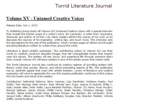Torrid Literature XV 9