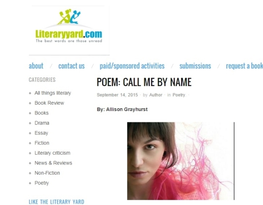 Literaryyard Call me by name 1