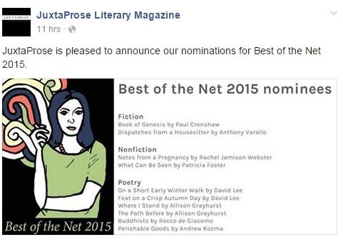 Juxtaprose Best of the Net 3