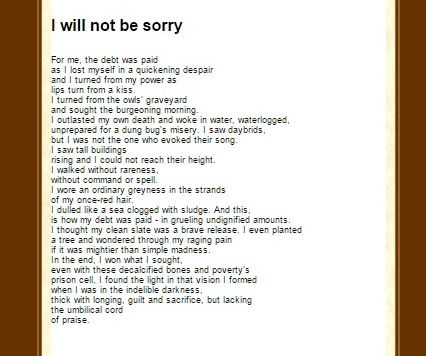 PoetryMagazine winter I will not be sorry