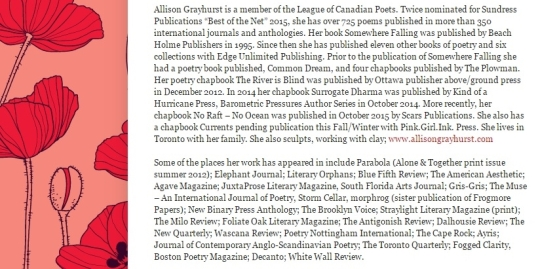Profiles in Poetry Nov 4