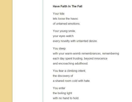 The Peregrine Muse-Have Faith1
