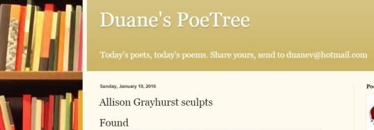 Duane's Poetree Found 1