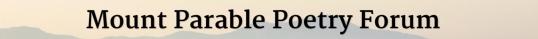 Mount Parable November third 1