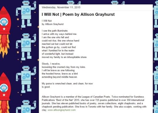 Rocket Boy Poetry Page Nov second 2