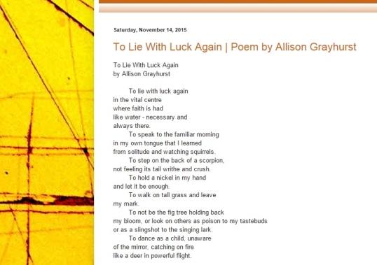 Mechanical Medusa Poetry Nov third 2
