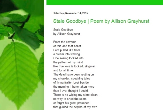 Vine Figure Poetry Page November third 2