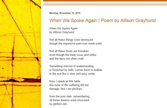 Mechanical Medusa Poetry Nov four 2