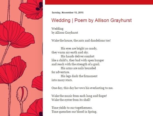 Profiles in Poetry Nov five 2