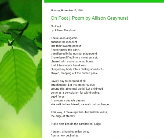 Vine Figure Poetry Page November five 2