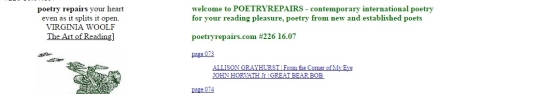 Poetry Repairs from the corner 2