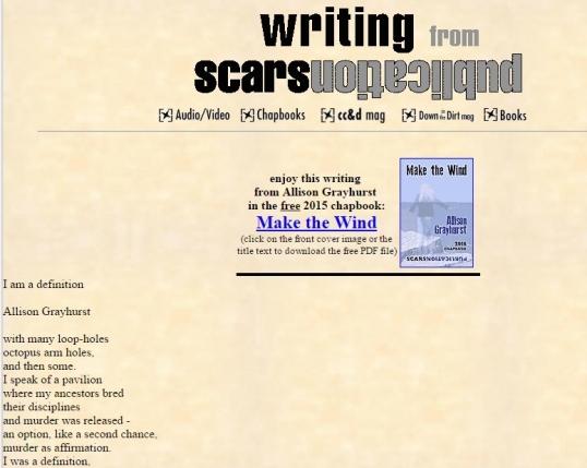 Scars I am definition 1