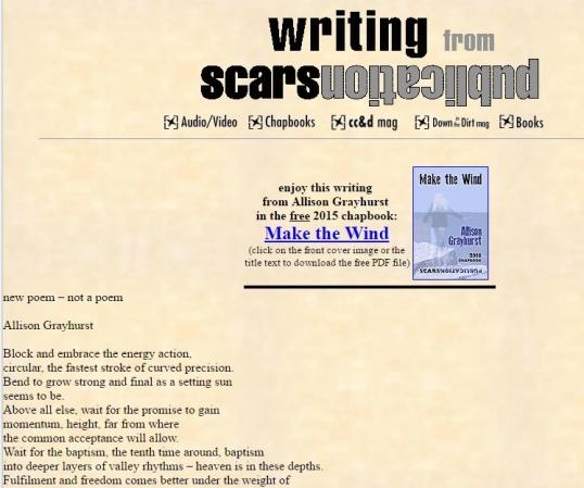 Scars new poem 1