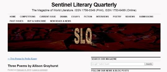 Sentinel Quarterly 1