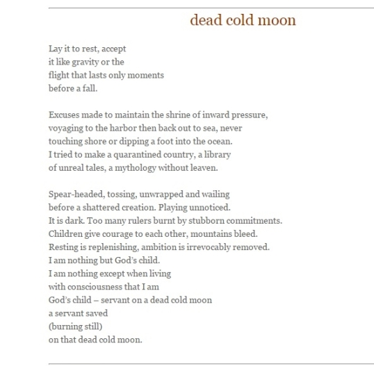 The Wagon Magazine dead cold moon