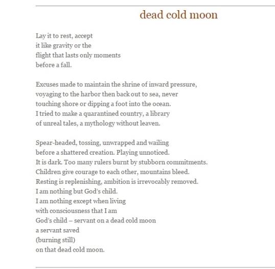 The Wagon Magazine dead cold moon