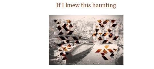 The Wagon Magazine If I knew this haunting 1