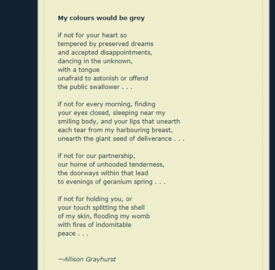 My Colours Would Be Grey Allison Grayhurst