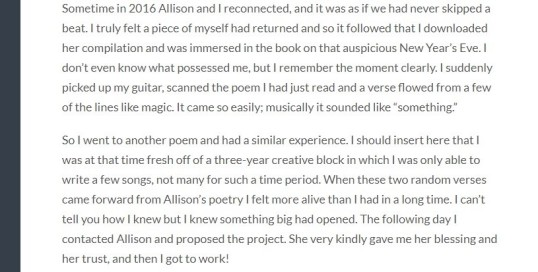 A Recent Interview Allison Grayhurst