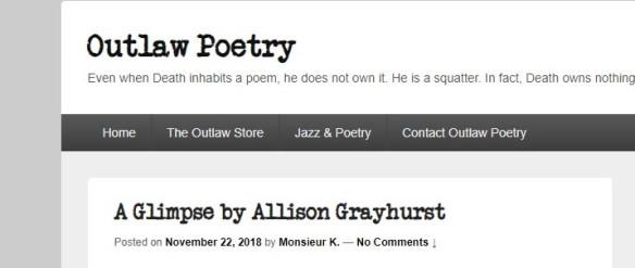 A Glimpse Allison Grayhurst
