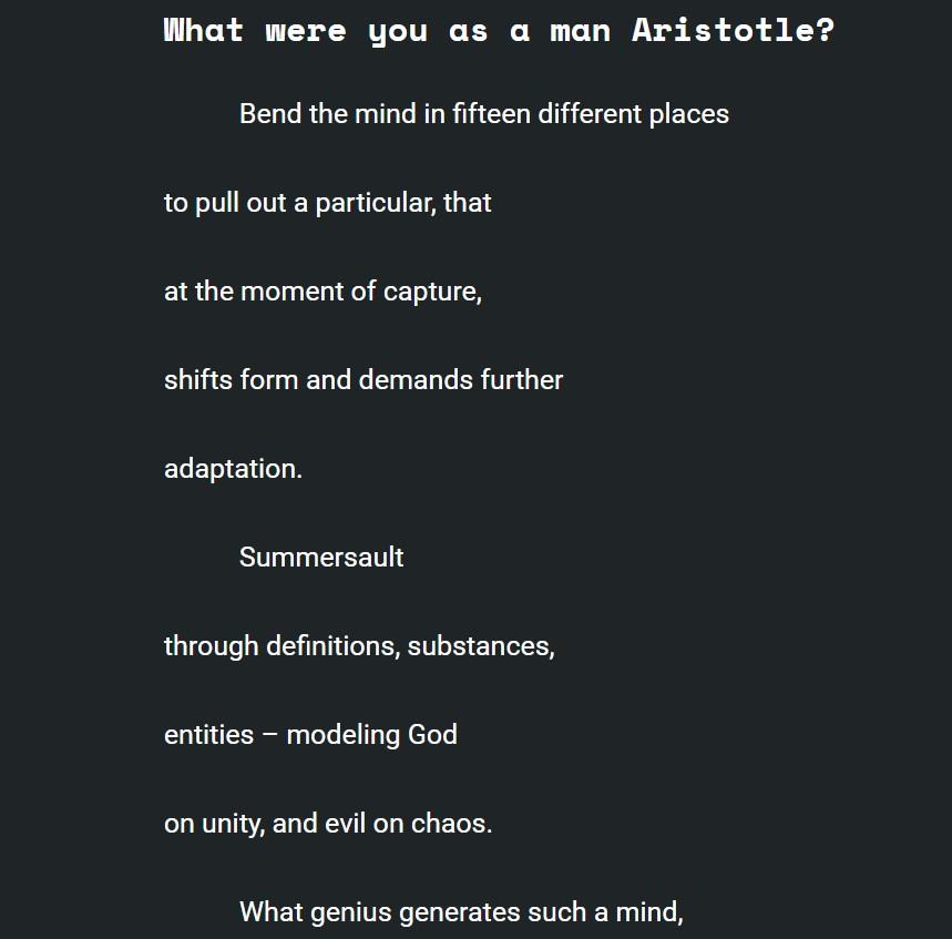 Dumpster Aristotle 1