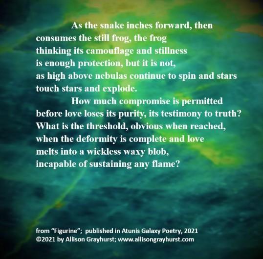 Allison Grayhurst - excerpt from Figurine