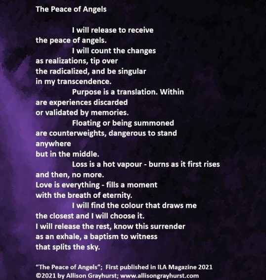 Allison Grayhurst - excerpt from The Peace of Angels (2)